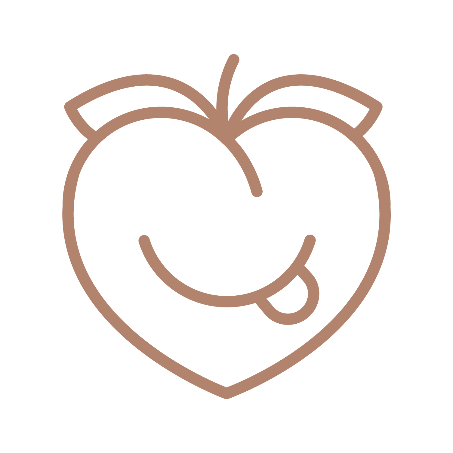 A smiling peach drawing representing spiced up relationship because of the Getting Down Kit by MyMuse