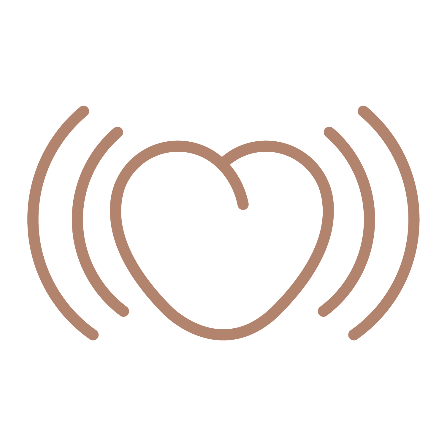 Illustration of a beating heart representing happiness after using Pulse