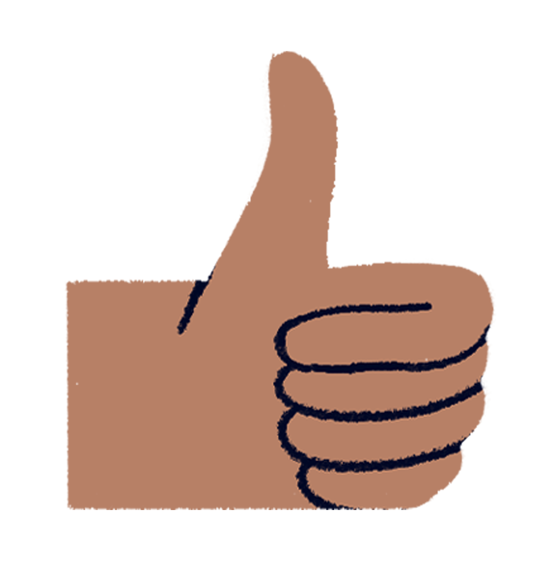 A thumbs up sign representing customer feedback on MyMuse products as part of the Beta Tester program at MyMuse Labs