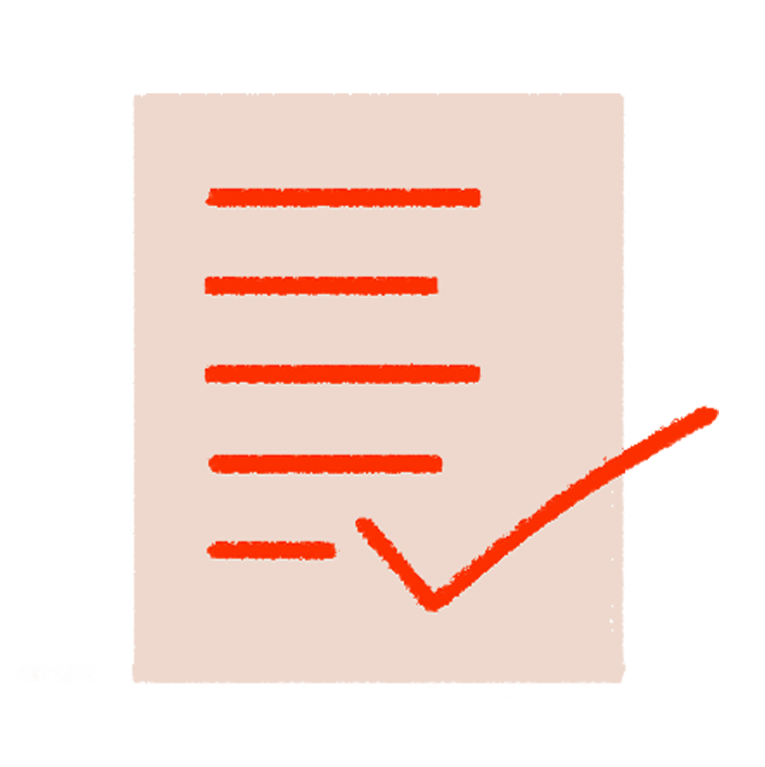 A checklist with a tick over it denoting full disclosure when someone is part of the MyMuse Beta Tester program at MyMuse Labs