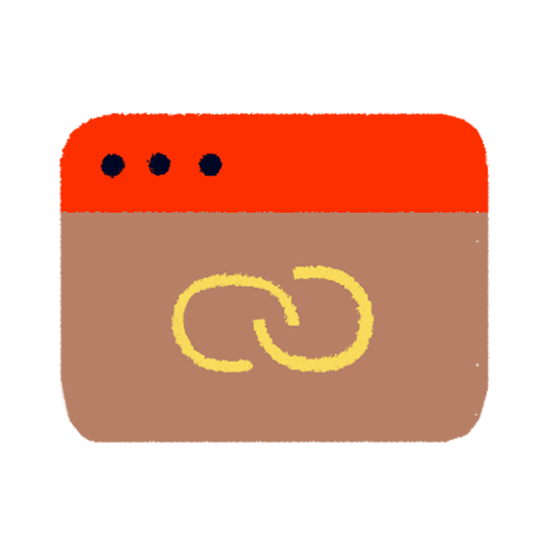 Icon of a link screen denoting custom links for discounts on MyMuse products as a MyMuse Insider