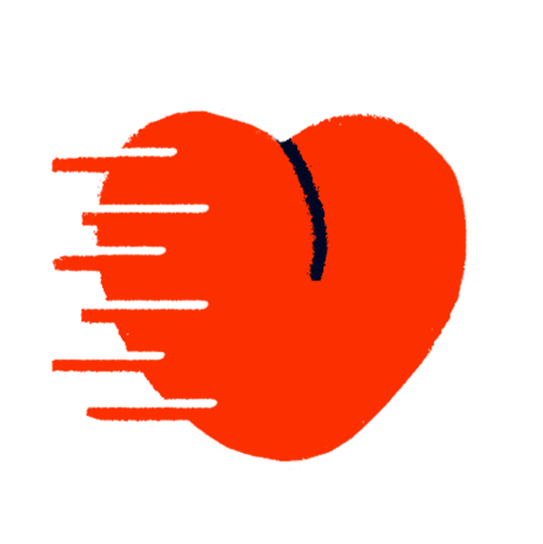A racing heart denoting the love sent to customers along with MyMuse products