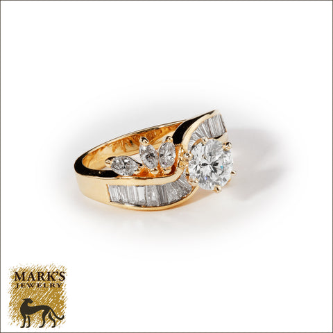 * 03703 14K Yellow Gold 1.03 ct Round Brilliant Diamond Ring