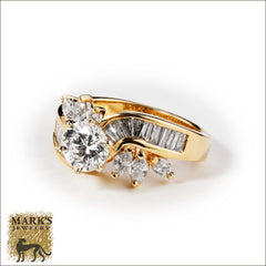 14K yellow gold 1.03 ct round brilliant diamond ring
