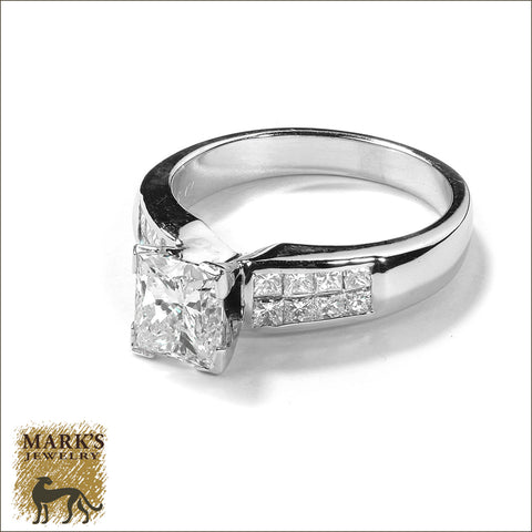 04264 / 02397 18K White Gold 2.06 cttw Princess Cut Diamond Ring