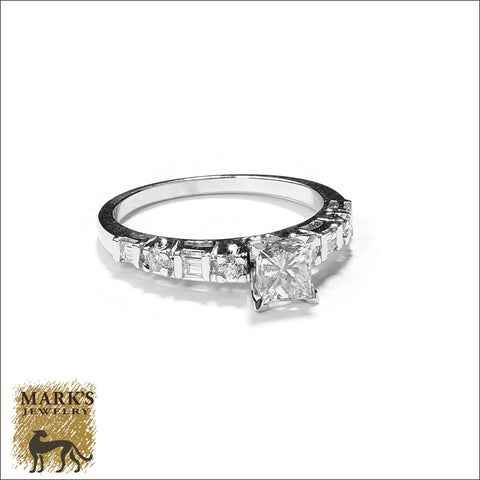 04341 / 04465 14K White Gold 0.65 ct Princess Cut Diamond Ring