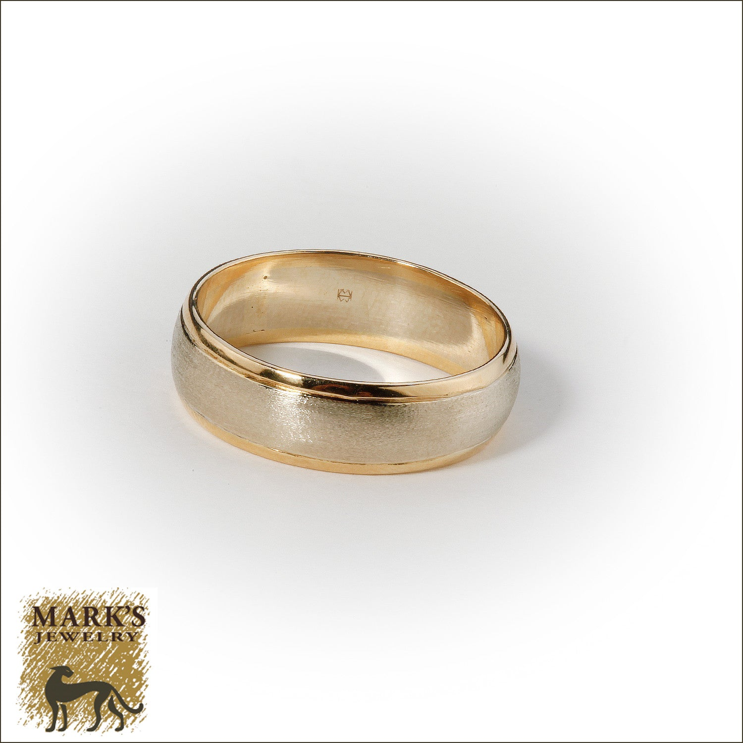 14K Two Tone 6mm Men's Band, Marks Jewelry Birmingham AL