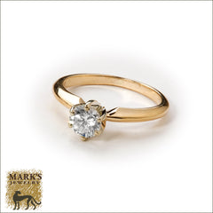 14K Yellow Gold 0.50 ct Solitaire Diamond Ring