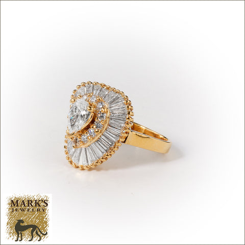 04672 18K Yellow Gold 2.50 dtw Diamond Ring-Dant