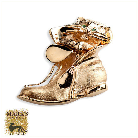 * 04737 Kitten In Boot Charm  **SOLD**
