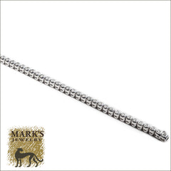 14K White Gold Bezel Set Diamond Tennis Bracelet