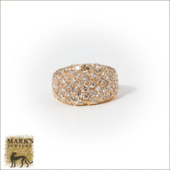 14K Yellow Gold 2.50 cttw Pave Set Diamonds Ring, Marks Jewelry