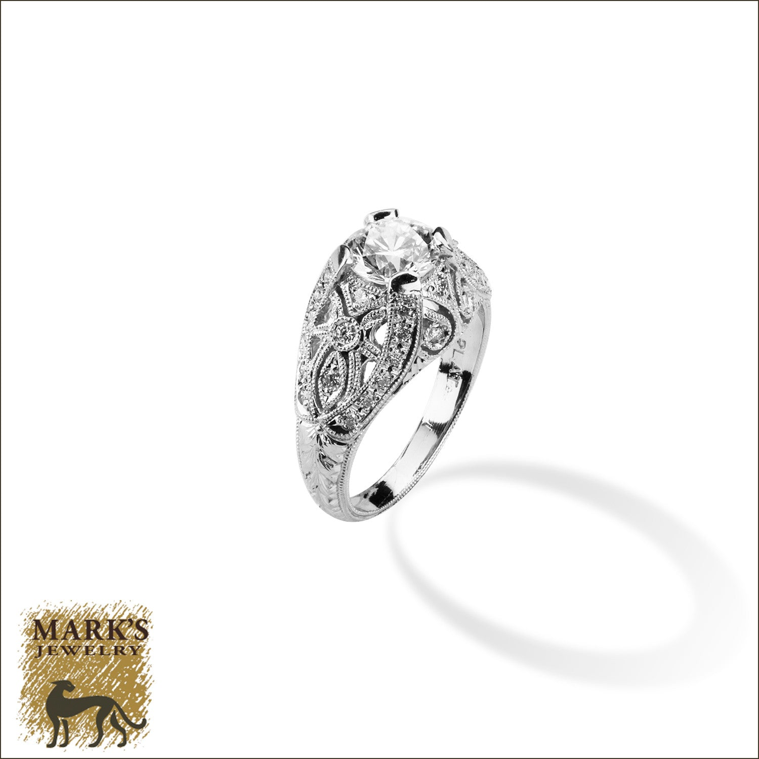 Platinum 1.02 ct Round Brilliant Diamond Ring