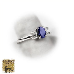 Estate Platinum 1 ct Sapphire & Diamond Ring, Marks Jewelry Birmingham AL