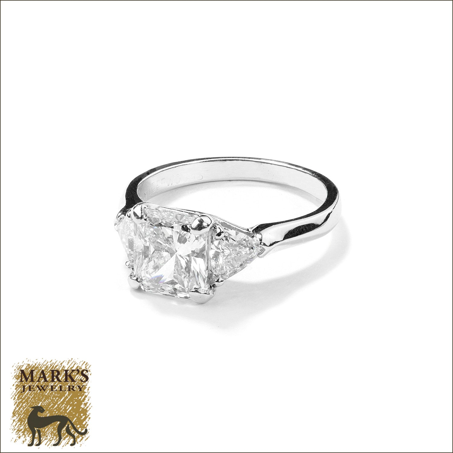 radiant raised diamond products solitaire longer classic cut ring rings