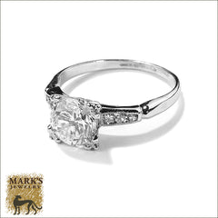 Platinum Estate 1.04 ct Diamond Ring