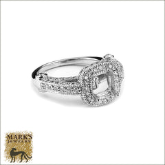 14K White Gold Mount w 1.05 ct diamonds