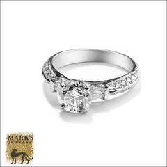 Platinum 1.25 ct Round Brilliant Diamond Ring, Marks Jewelry