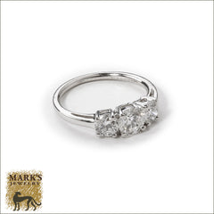 Platinum 3/4 ct Round Brilliant Diamond Ring