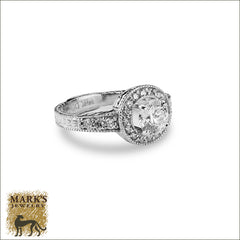 14K White Gold 0.89 ct Round Brilliant Diamond Ring