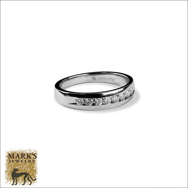 Estate Platinum 0 25 Ct Diamond Band Mark S Jewelry
