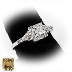 08063 14K White Gold 0.40 ct Princess Cut Diamond Ring