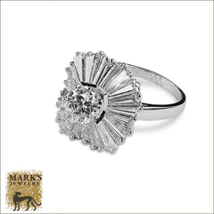 Platinum 1.15  ct Round Brilliant & 3 cttw Baguette Diamond Ring-Dant