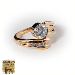14K Yellow Gold 1.15 ct Diamond Ring, Marks Jewelry Birmingham AL