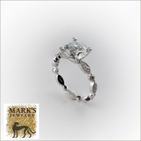 09051 / 09142 14K White Gold 2.09 ct H / SI2 Round Brilliant Diamond Ring