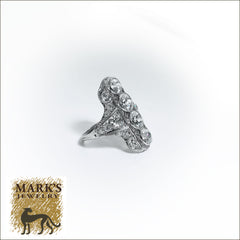 09125 Platinum 6.3 cttw Diamond Filigree Ring