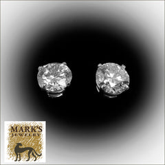 08963 14K White Gold 2.82 cttw Lab Grown Diamond Stud Earrings