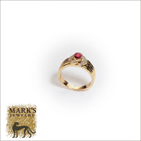 00685 14K Yellow Gold Ruby and Diamond Band