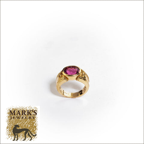 01781 14K Yellow Gold 2.85 ct Pink Tourmaline Ring