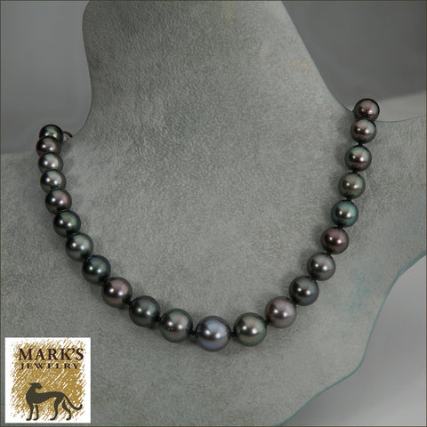 06827 Black Tahitian Pearl Necklace