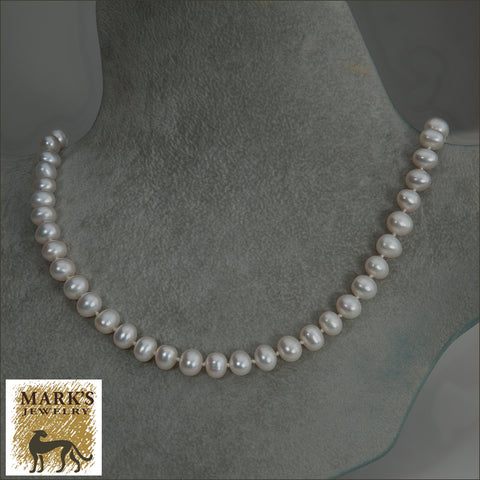 08710 Freshwater Potato Shaped Pearl Necklace