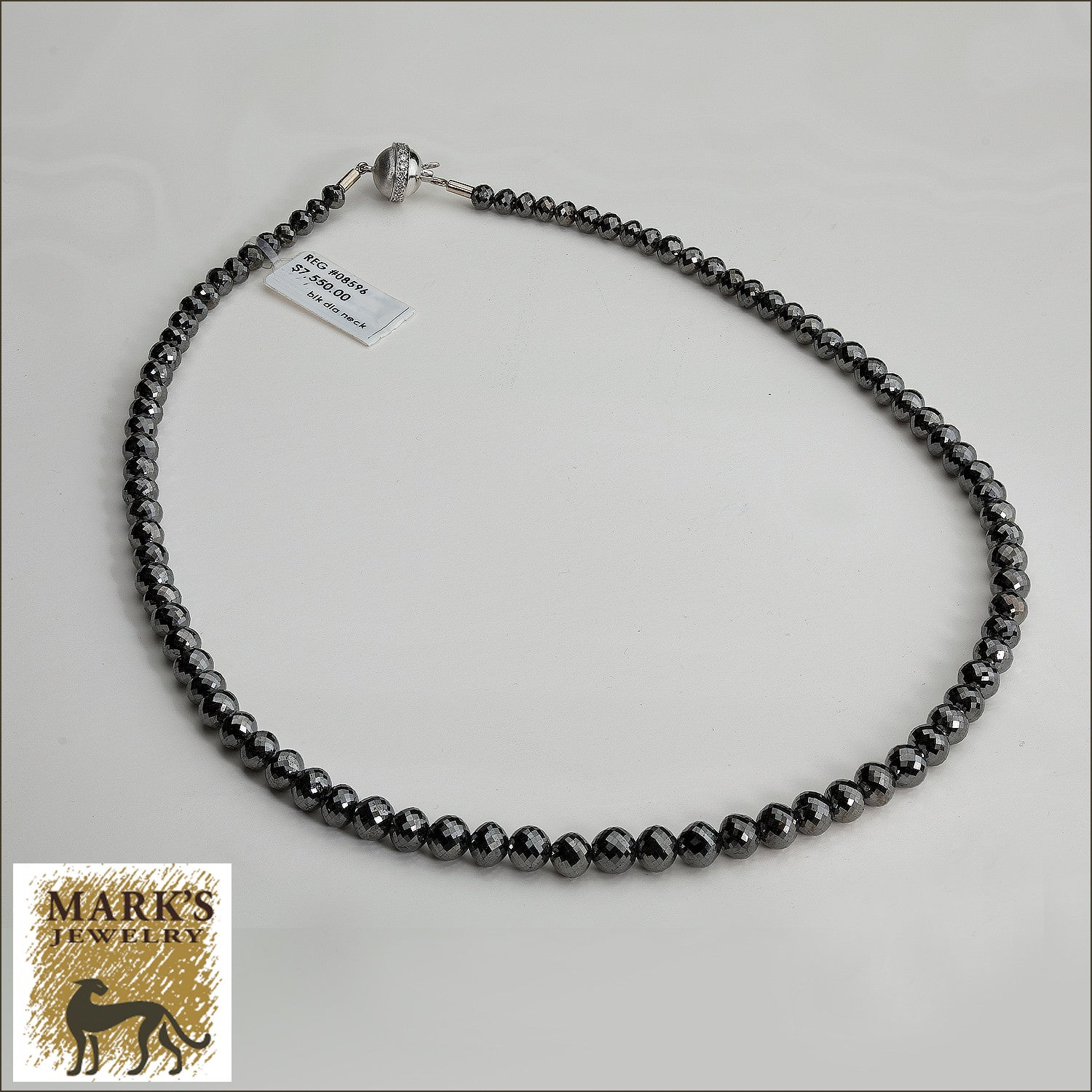 black necklace raine product diamond turgeon