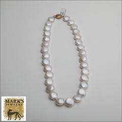 18 inch freshwater coin pearl necklace