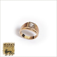 Estate 14K Yellow Gold Men's Diamond Ring