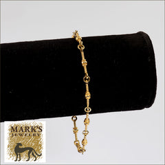 "02424 18K Yellow Gold 7"" Fancy Italian Bracelet"
