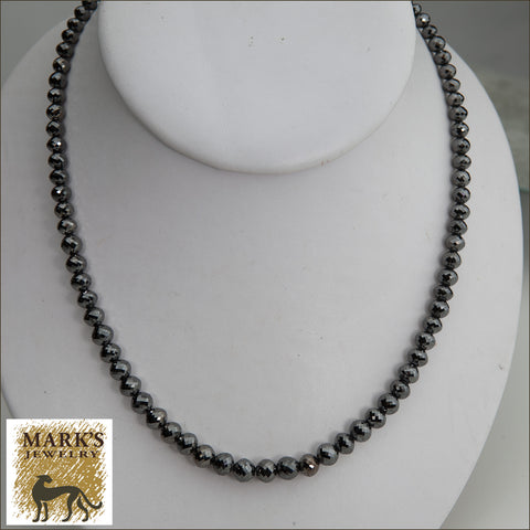 * 08596 Black Diamond Necklace