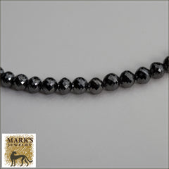 Black Diamond Bead Necklace