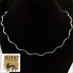 "14K White Gold 16"" Double Stranded Spring Necklace"