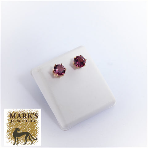 05471 14K Yellow Gold Pink Tourmaline Earrings