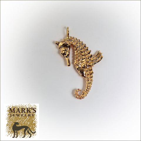 02765 14K Yellow Gold Seahorse Charm