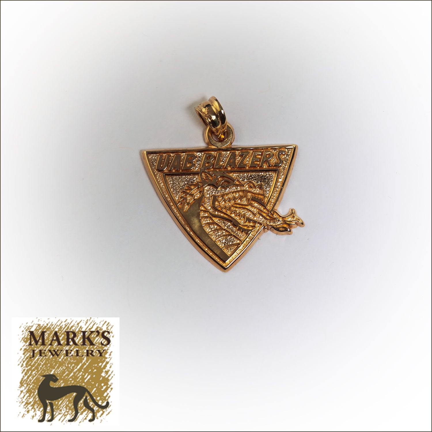 14K Yellow Gold UAB LogoArt Charm