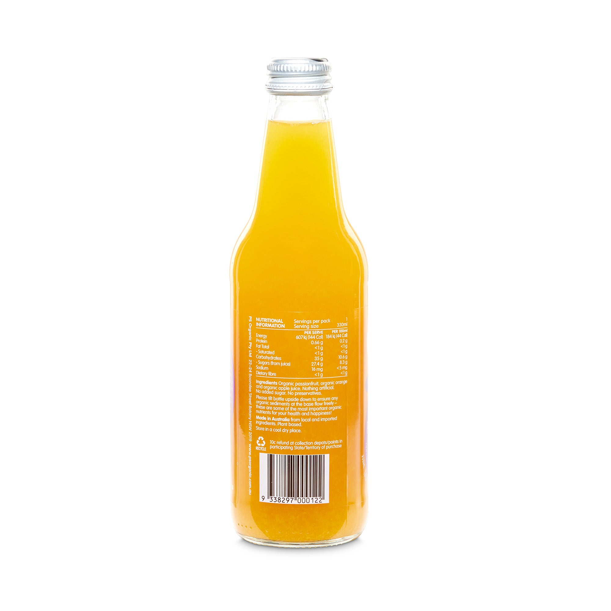 Passionfruit, Orange + Apple Juice 330ml