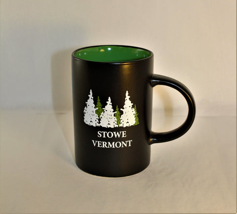 14oz Midnight Cafe Mug w/Green Interior
