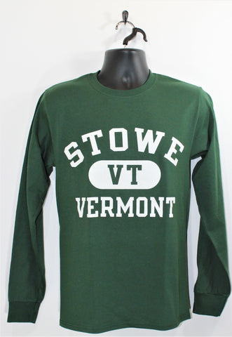 Stowe Arch LS Tee Green
