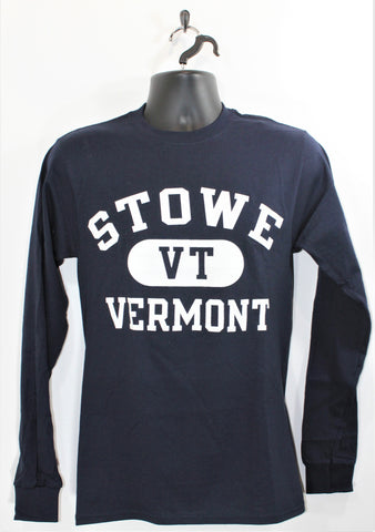 Stowe Arch LS Tee Navy