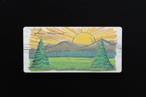 Stowe VT Happy Strokes Magnet